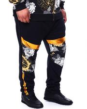 Sweatpants - Gold Flower Track Pants (B&T)-2427040
