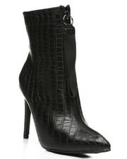 Fashion Lab - Patent Lace-Up Lug Bottom Boots-2441269