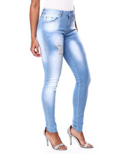 Bottoms - Bleach Wash Ripped Skinny Jean-2439494