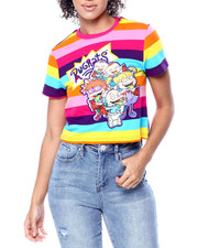 Tops - Rugrats Crew Crop Stripe Shirt-2436208