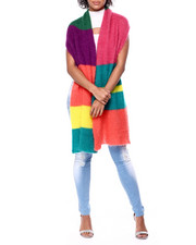 Womens-Holiday - Multi Color Block Textured Scarf-2441624