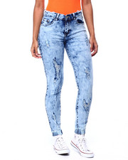 Bottoms - Ripped Raw Edge Skinny Jean-2439477