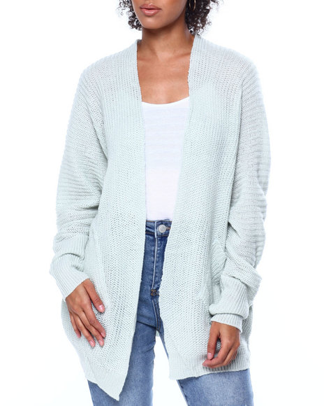 Fashion Lab - Cable Knit 2 Pocket Open Cardigan