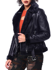 Womens-Winter - Shearling Faux Leather Jacket-2442094