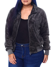 Outerwear - Faux Fur Bomber(Plus)-2442042