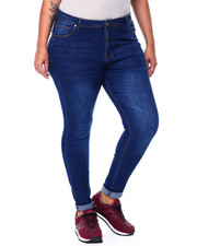 Plus Size - HI Rise 5 Pocket Stretch Jean(Plus)-2442036