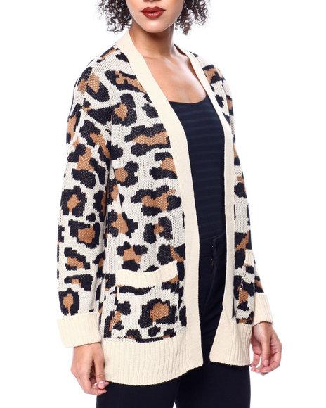 Fashion Lab - L/S Rolled Cuff Jacquard Cardigan