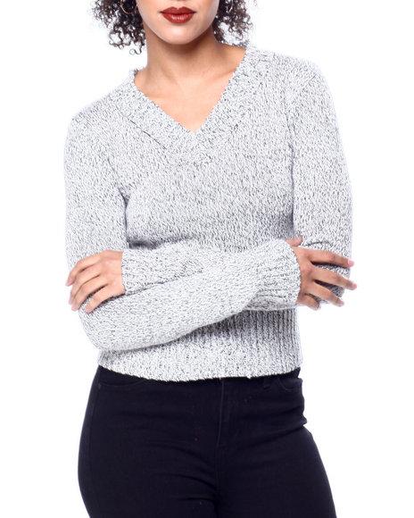 Fashion Lab - V Neck Rib Trim L/S Sweater