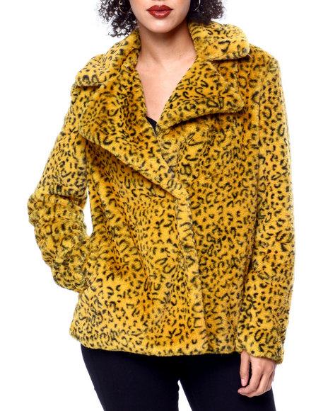 Kendall & Kylie - Animal Print Faux Fur Jacket