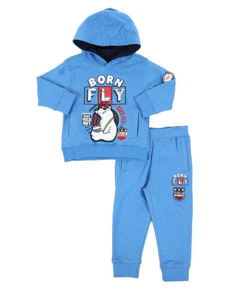 Born Fly - Fleece Hoodie & Jogger Pants (2T-4T)