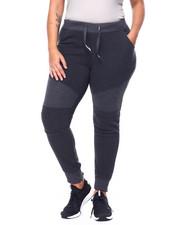 Fashion Lab - Fleece Moto Jogger (Plus)-2441792