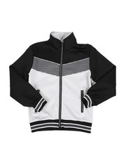 Boys - Color Block Herringbone Chevron Track Jacket (8-18) -2437563