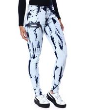 Fashion Lab - Bleach Splatter Zipper Side Jean-2441661