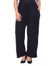DEREK HEART - Brushed Yummy Jersey Paper Bag Palazzo Pant W/Self Belt-2442113