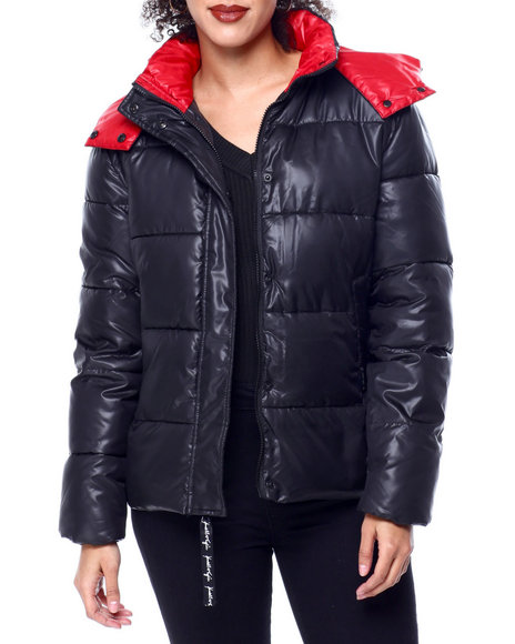 Kendall & Kylie - Quilted Puffer Jacket W/Hood