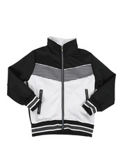 Boys - Color Block Herringbone Chevron Track Jacket (4-7) -2437553