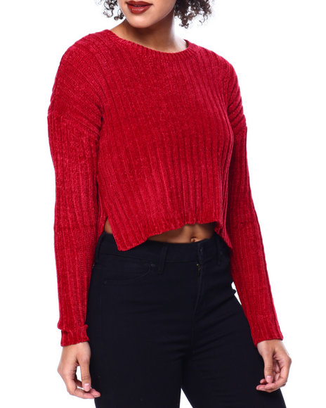 Fashion Lab - Chenille Rib Slit Side L/S Sweater