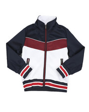 Boys - Color Block Herringbone Chevron Track Jacket (4-7) -2437522