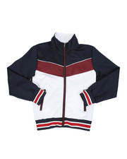 Boys - Color Block Herringbone Chevron Track Jacket (8-18)-2437537