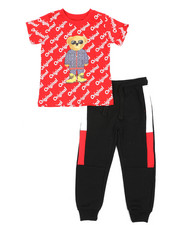 Boys - 2 Pc Tee & Jogger Pants Set (4-7)-2439935