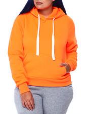 Hoodies - Fleece Kangaroo Pocket Hoodie (Plus)-2441735