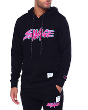 Hudson NYC - Savage Slash Embroidered Logo Hoody-2442127