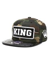 Hats - King PU Patch Snapback Hat-2439114