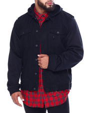 Big & Tall Faves - Fleece Combined Denim Jacket (B&T)-2443293