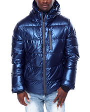 Kuwalla - Metallic Blue Down Parka 250-2442771