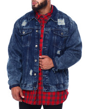 Big & Tall Faves - Denim Rip + Repair Jacket (B&T)-2443310
