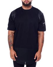 Big & Tall - S/S PU W/Zip Mesh + Moto (B&T)-2443339