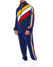 Big & Tall - Makobi Chenille Stripe Track Set (B&T)-2442999