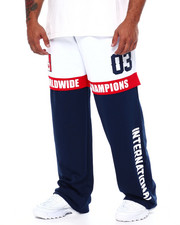 Sweatpants - Poly Jersey Color Block Pant (B&T)-2443017