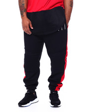 Joggers - Fleece Motto Zipper Joggers (B&T)-2443008