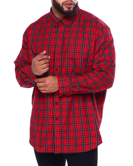 Chaps - Easy Care-Fashion-L/S-Sport Shirt (B&T)