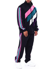 Men - Makobi Chenille Stripe Track Set (B&T)-2442965