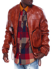 Leather Jackets - Utility Pocket Jacket-2443012