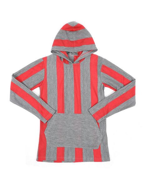 Arcade Styles - Stripe Hooded Shirt (8-18)