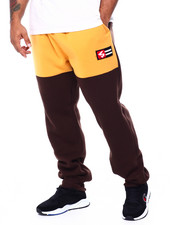 Sweatpants - Fleece Pants W/Chenille Patch (B&T)-2443043