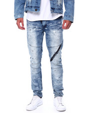 Buyers Picks - Embossed Moto Jean w Oil Stain-2443848