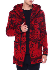 Buyers Picks - Abstract Shawl Collar Zip Up Sweater Jacket-2443884