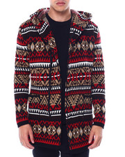 Buyers Picks - Aztec Shawl Collar Zip Up Sweater Jacket-2443894