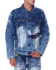 Buyers Picks - Embossed sleeve Denim Jacket-2443878