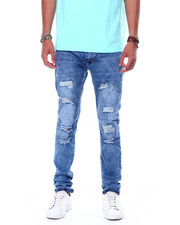 Buyers Picks - Distressed Ripped Stretch Jean Cloud Blue-2444135