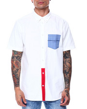 WESC - WHITE ODEN BLOCKED S/S Woven Shirt-2444651