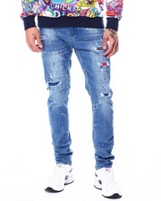 Jeans & Pants - Ripped Jean with Patch Detail-2445509