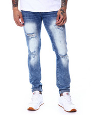 WT02 - Skinny Fit Ripped Jean Light Sand Blue-2445759