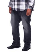 Men - Stone Wash Sand Blast Denim Pants Relaxed Straight Fit (B&T)-2444409