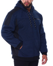 Buyers Picks - Moto Stitched Nylon Pieced Lined Fleece Jacket (B&T)-2445457