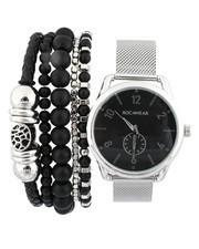 Stocking Stuffers Men - Watch & Stacked Bracelets Set-2440994